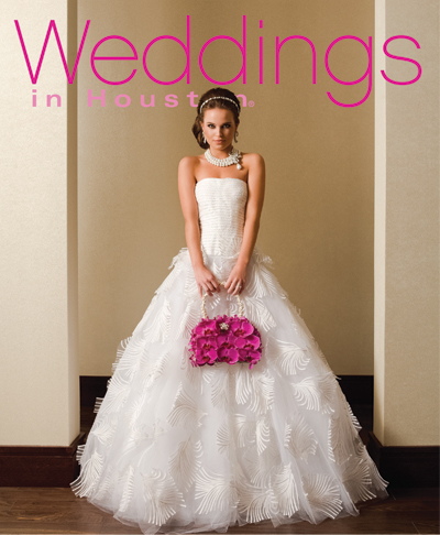 January cover of Weddings in Houston magazine