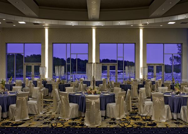 La Toretta Lake Resort & Spa ~ Versailles Ballroom at dusk