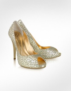 Rodo Crystal Peep-Toe Pump