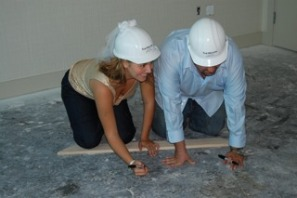 Deborah and Joe Sign Floor