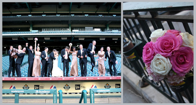 Minute Maid Park Wedding by Rachel Robinson Photography