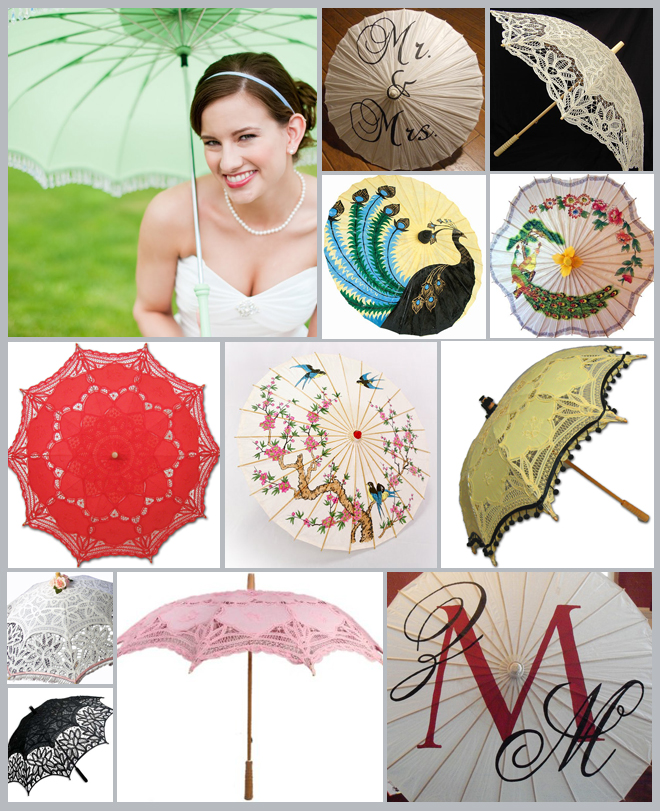 Bridal Umbrellas and Parasols Inspiration Board ~ Houston Wedding Blog