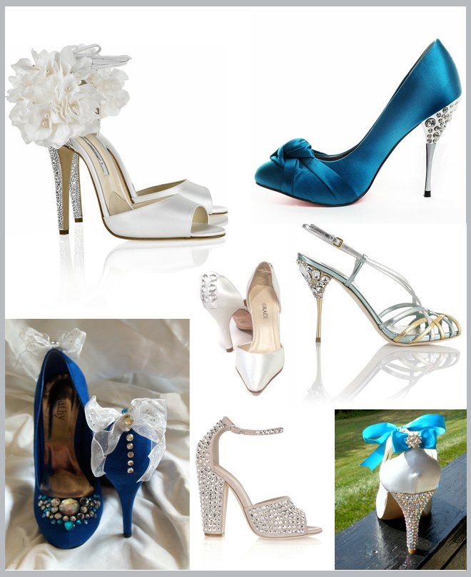 Crystal Heel Wedding Shoes ~ Houston Wedding Blog