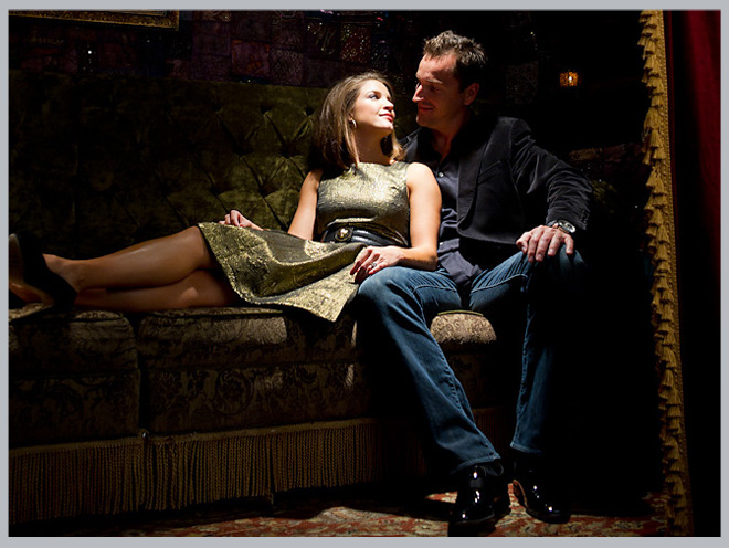 Sultry House of Blues Engagement Shoot by Adam Nyholt Photographer