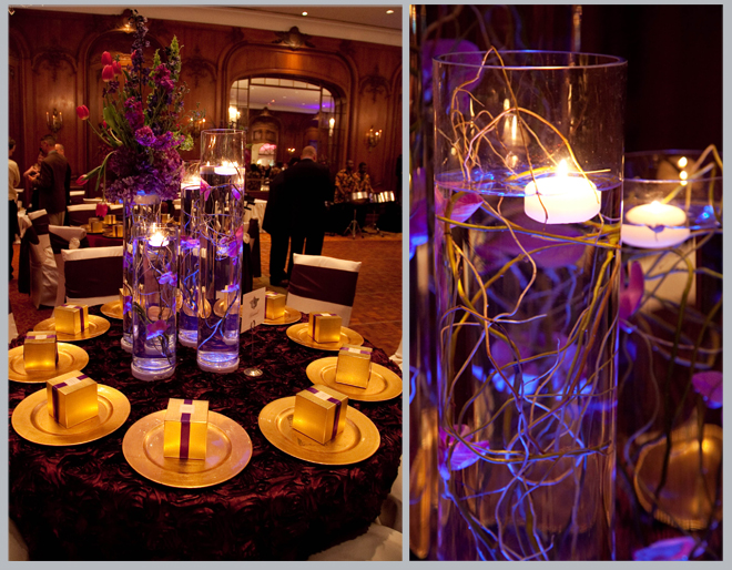 Wedding decoration ideas purple and gold wedding reception dream back gt gallery for purple and gold wedding decor junglespirit Image collections