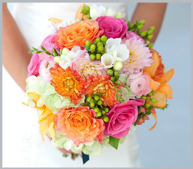 Pink, Orange, Yellow and Green Lakeway Resort Wedding ~ Houston Wedding Blog