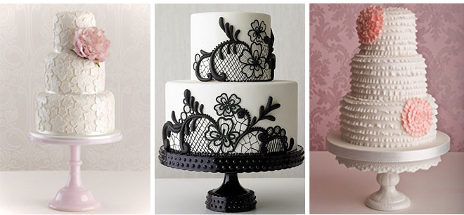 Lace Wedding Cakes ~ Houston Wedding Blog