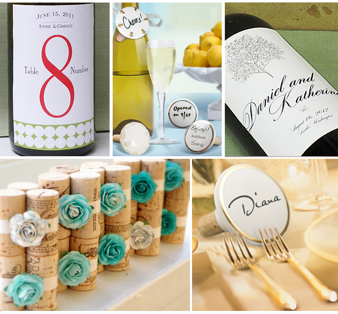 Place Cards and Favors for Wine Weddings ~ Houston Wedding Blog