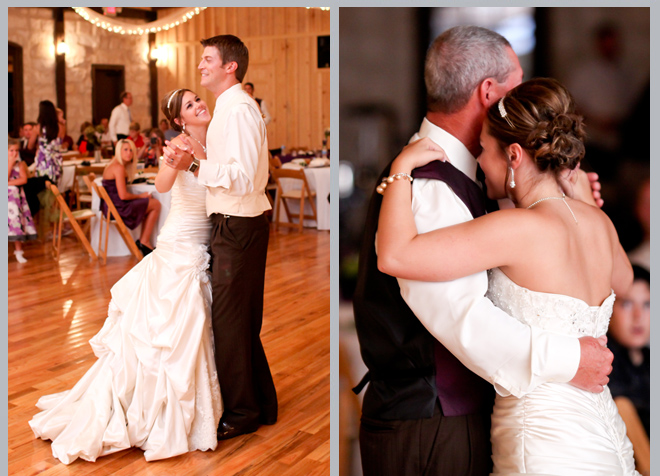 Bride and Groom Dance / Father Daughter Dance by Pedigo Photography