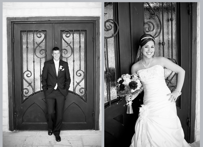 Bride and Groom Posing Separately by Pedigo Photography
