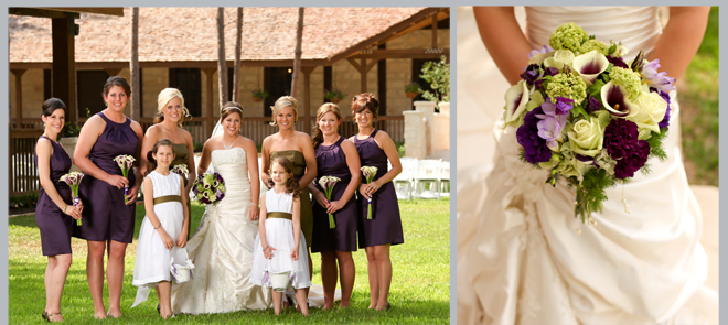 Bride and Bridesmaids by Pedigo Photography