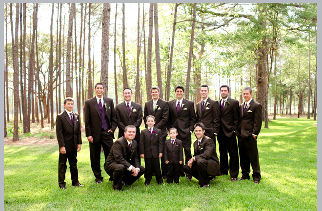 Groomsmen Pose by Pedigo Photography