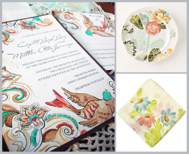 Watercolor Weddings Inspiration Board ~ Houston Wedding Blog