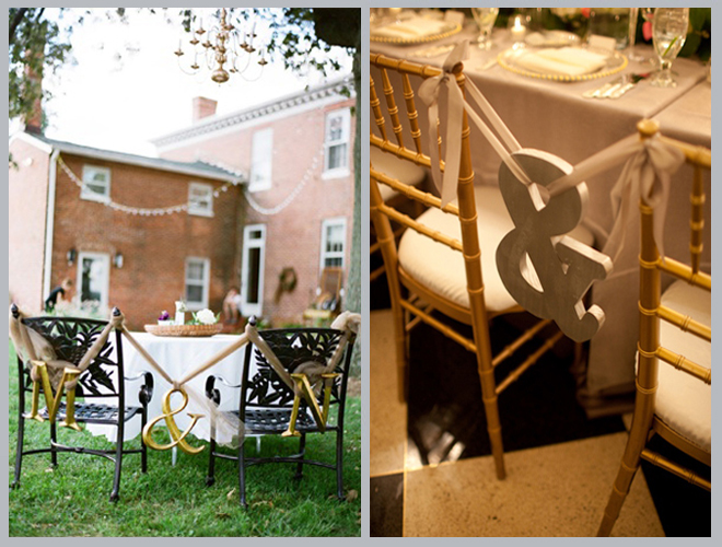 Sweet & Stylish Bride and Groom Chairs