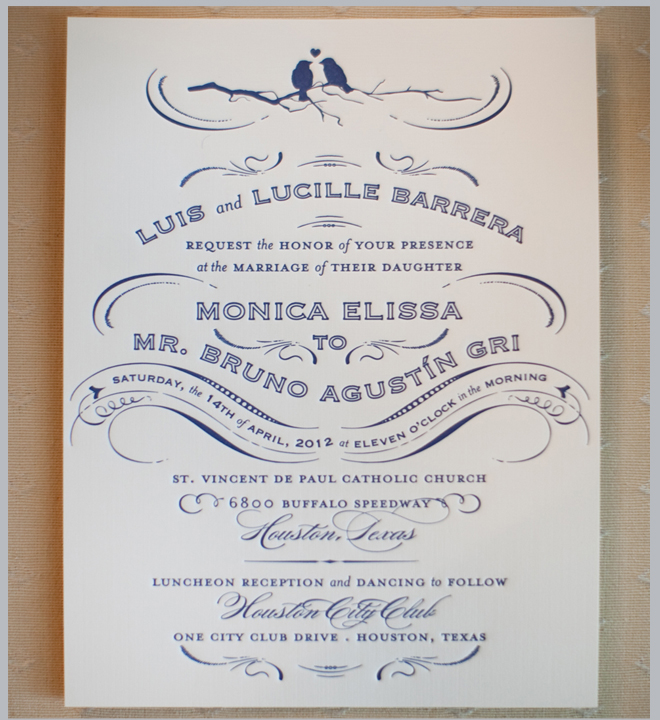 elegant wedding invitation, navy wedding invitation