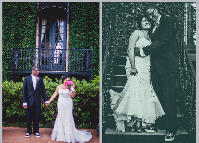 Classic Courtyard on St. James Wedding by Civic Photos