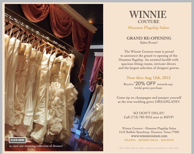 Winnie Couture Grand Re-Opening Sale