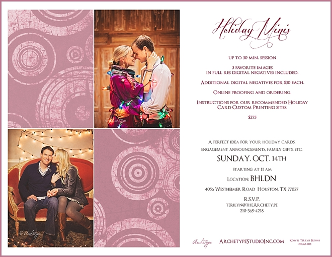 The Big To Do: Holiday Minis With Archetype Studio @ BHLDN, Sunday Oct. 14