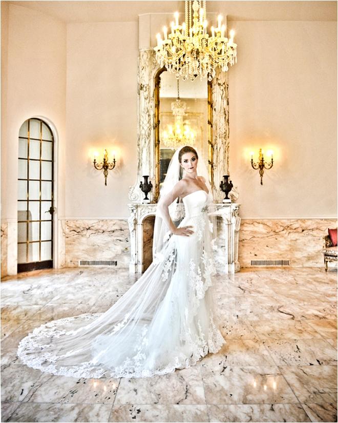 standing bridal portrait