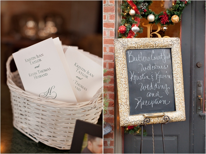 Wedding invitations and welcome sign