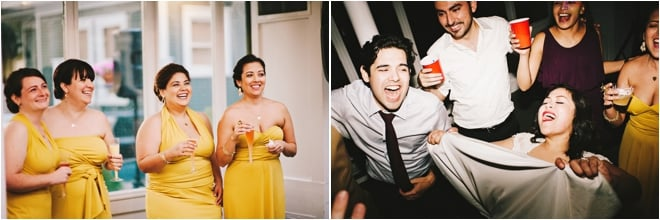 Yellow and Turquoise Outdoor Wedding by Joseph West Photography