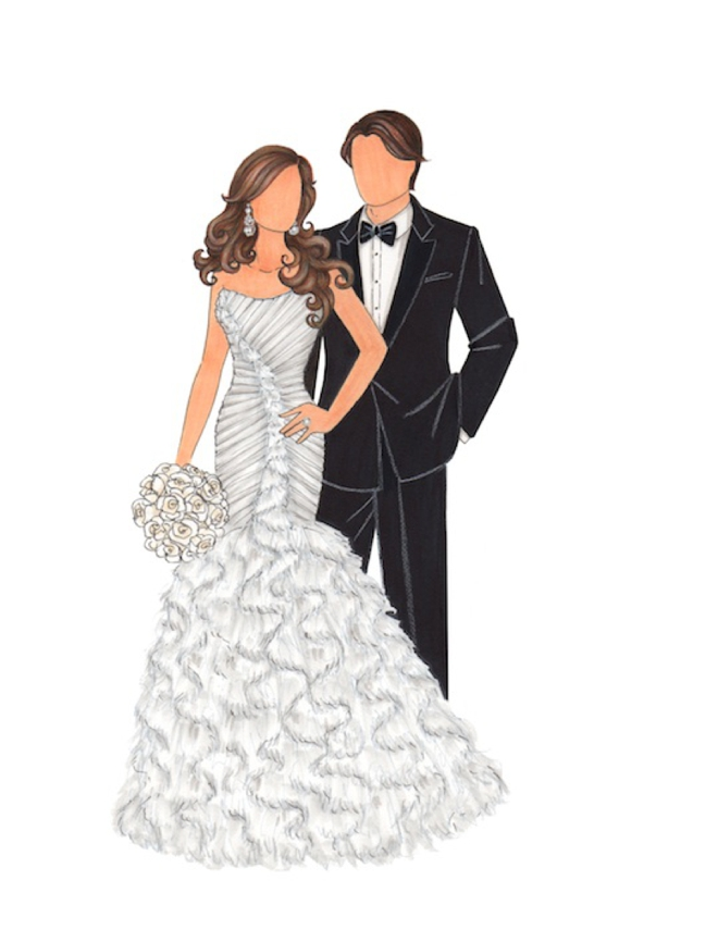 This Is What An Illustrated Bride Looks Like
