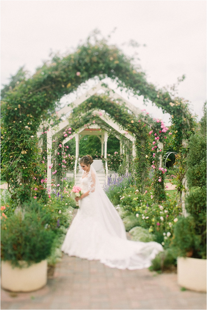 Coral and Ivory Garden Party Wedding at the Antique Rose Emporium ...
