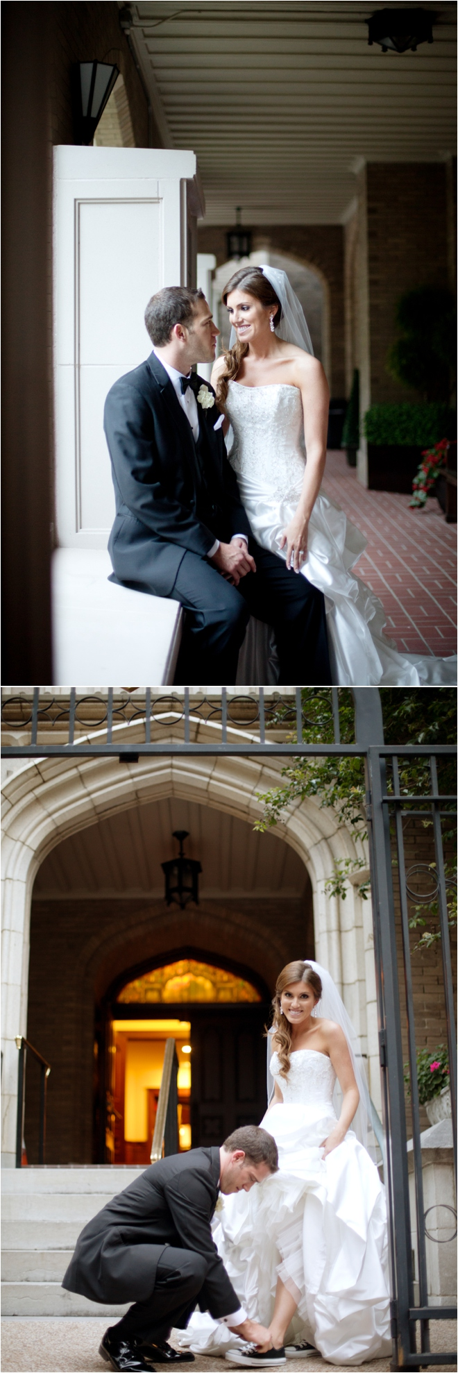 Elegant Ivory and Black Petroleum Club Wedding