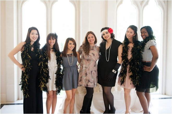 Gorgeous Great Gatsby Bridal Luncheon at Chateau Cocomar