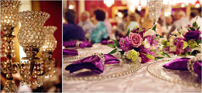 Purple Silver And Bling Wedding At The Majestic Metro