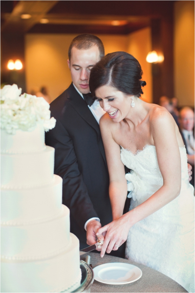 Pretty, Sun-kissed White and Pink Wedding at The Woodlands Country Club