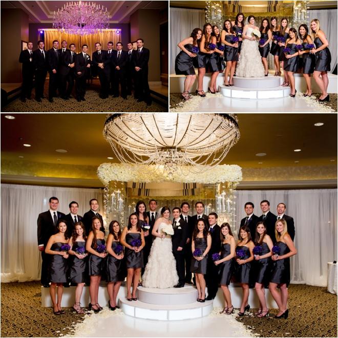 White Silver And Purple Wedding At Hotel ZaZa Houston Wedding Blog