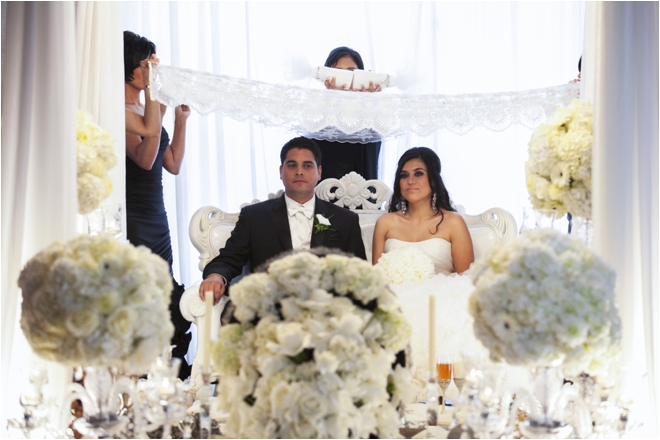 Elegant Black and White Persian-American Wedding at Hotel ZaZa