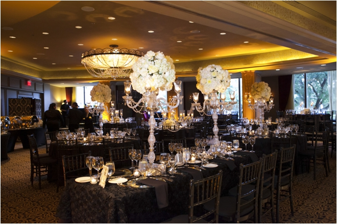 Elegant Ivory White And Black Persian American Wedding At Hotel ZaZa