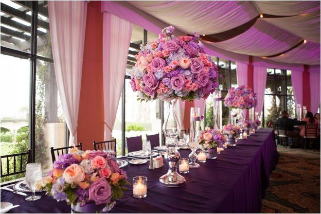 Lavender and Coral Galveston Texas Wedding at Hotel Galvez
