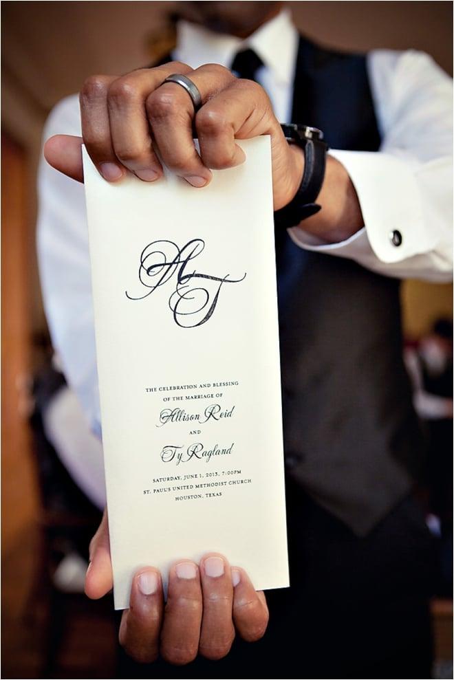 Classic Black, White and Blush Wedding at Hotel ZaZa