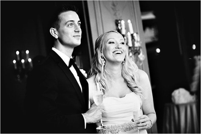 Classic Black, White and Blush Wedding at Hotel ZaZa