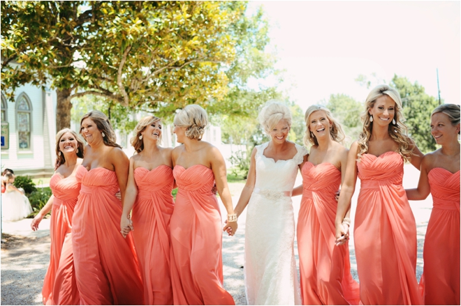 Champagne And Coral Vintage Wedding, Houston « Houston