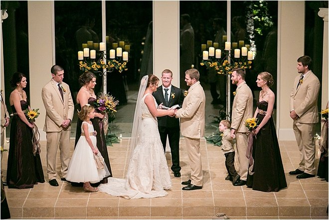 Golden, Ivory, and Plum Rustic Wedding at Ashton Gardens by Joshua Tyi Photography