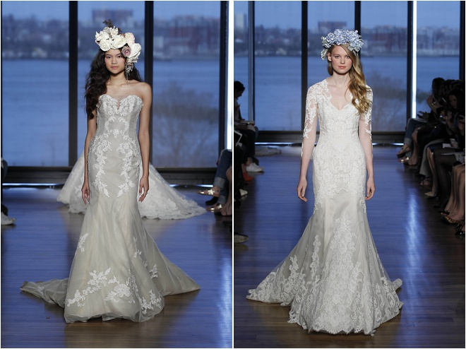 Lace wedding gowns houston : Ines di santo s couture bridal collection gardens