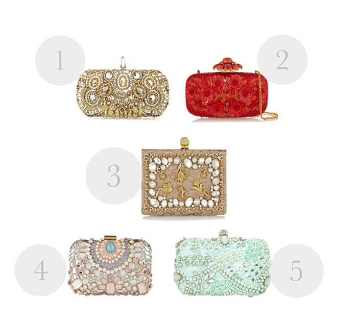 Bridal Style: Top 5 Fave Embellished Bridal Clutches