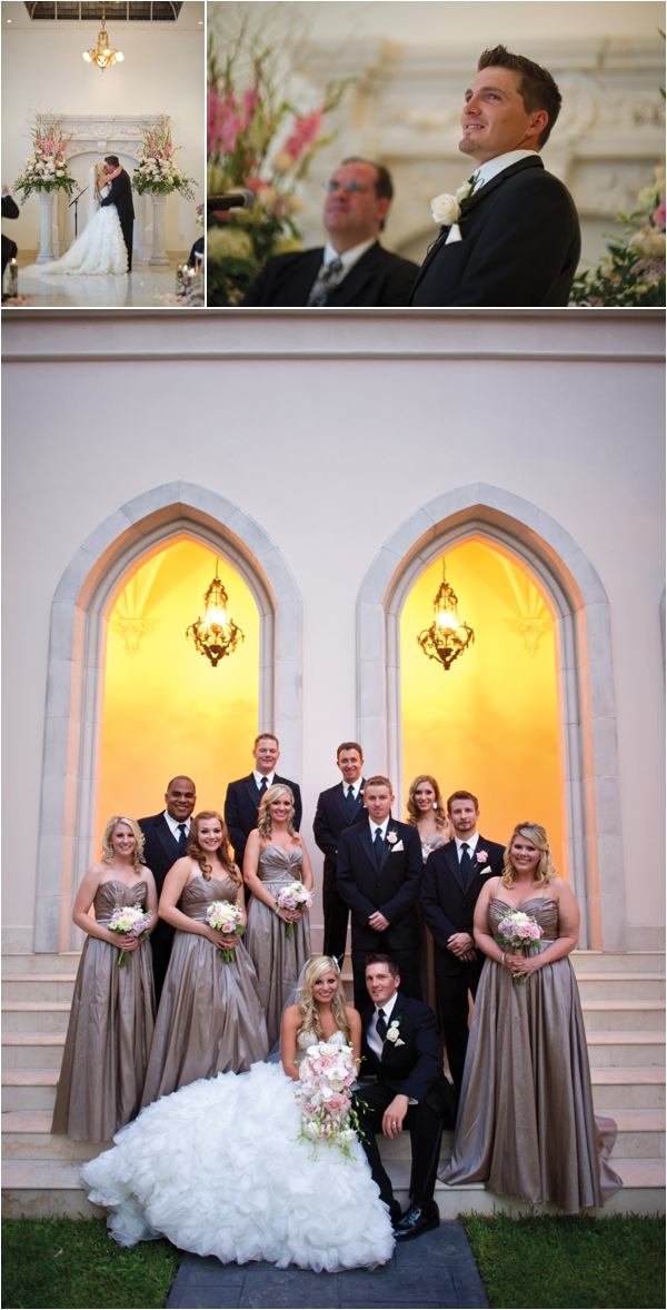 Blush Pink, Gold & Ivory Wedding at Chateau Cocomar by DC Stanley