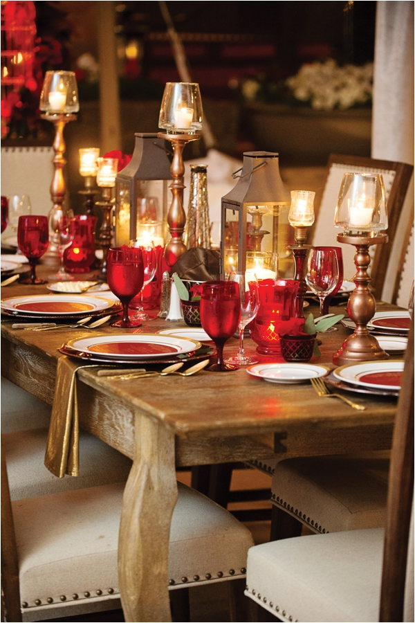 red-white-western-table-setting