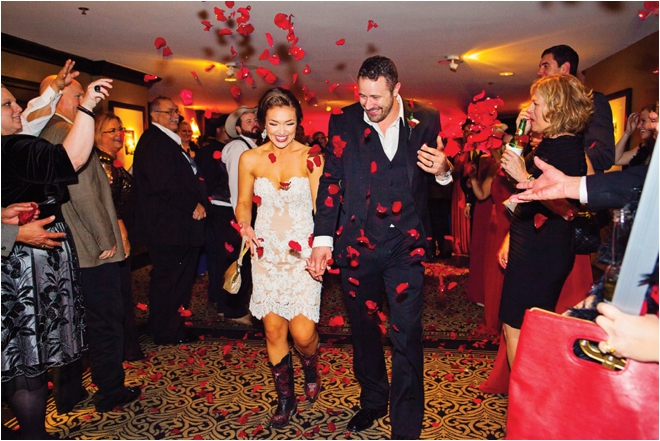 Red, Gold & Black Wedding at Hotel ZaZa by Select Studios