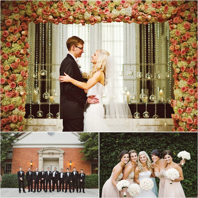 Pink, Cream & Gold Wedding at the Houstonian by J. Cogliandro Photography