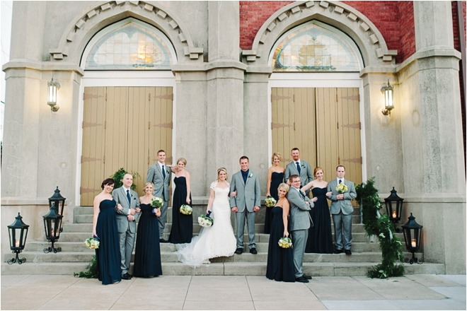Blue, Yellow and Gray Wedding at the Tremont House by Adam Nyholt Photography