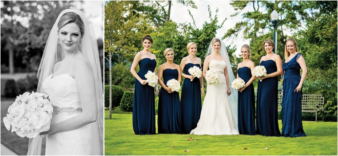Navy & Champagne James Bond Wedding