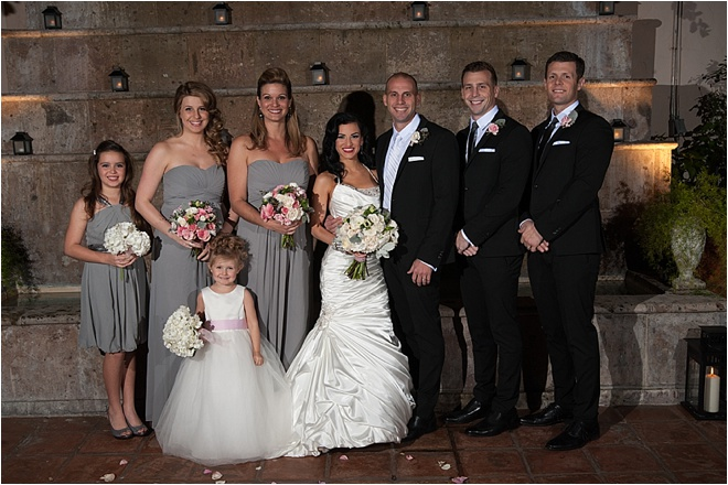 Charcoal Grey & Pale Pink Wedding