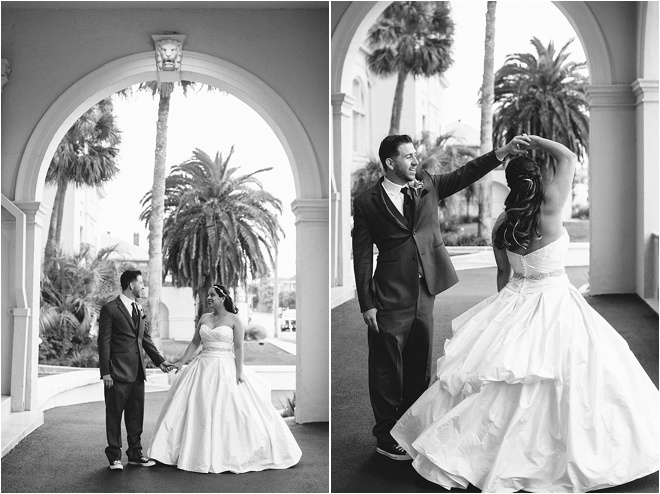 Vintage Garden Theme Wedding at Hotel Galvez by Akil Bennett Photography