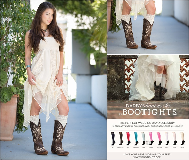 weve been going gaga for darbys boot socks ever since this awesome legwear made its way into our i do bridal soiree swag bags why you ask
